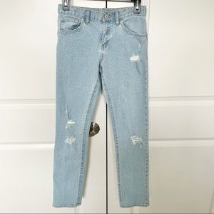NEW Levi's Girlfriend Distressed Denim Jeans